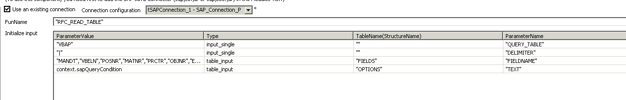 table query in sap