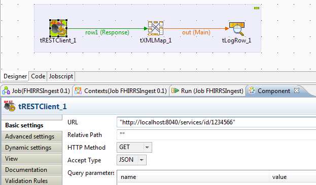 resolved] How to pass the REST Endpoint to tRestClient as a