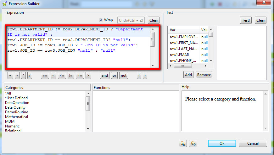 IF/else statement usage in tMap (Page 1) / Open Data Integration