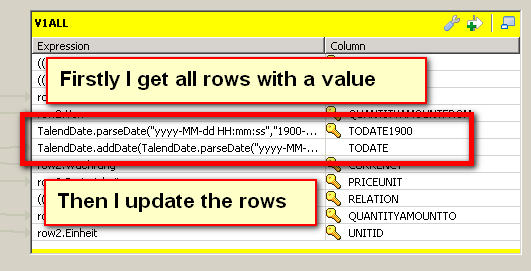 NOT equals in tMSSQLOutput (Page 1) / Open Data Integration